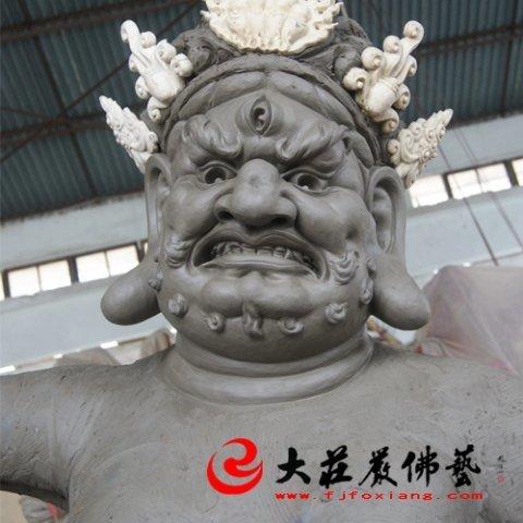 泥塑财神像