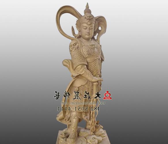 韦驮菩萨贴金铜雕佛像