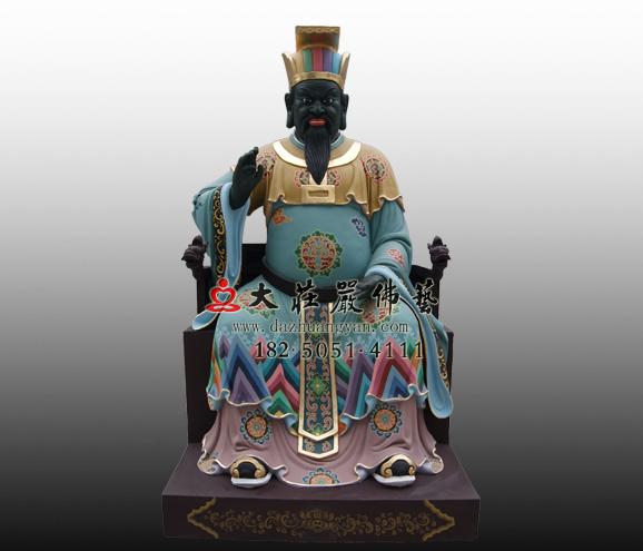 十殿阎王之四殿五官王彩绘铜雕神像