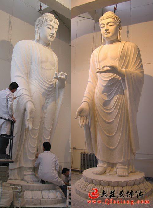 阿弥陀佛4.8米的中稿石膏佛像完成设计