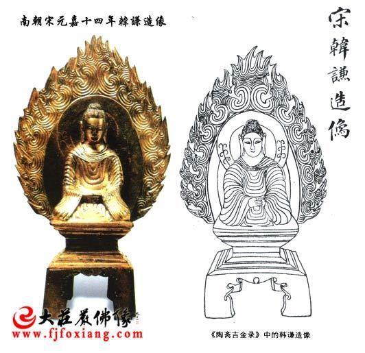 南朝宋元嘉十四年韩谦造像 金铜佛像