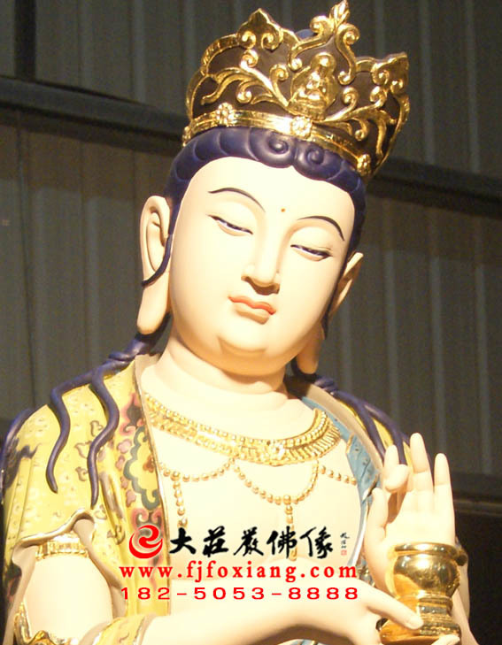 彩绘描金八大菩萨之地藏王菩萨