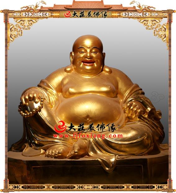铜雕贴金弥勒佛