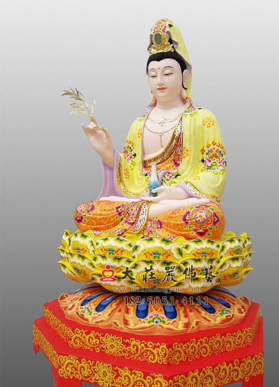 观世音菩萨彩绘侧面佛像