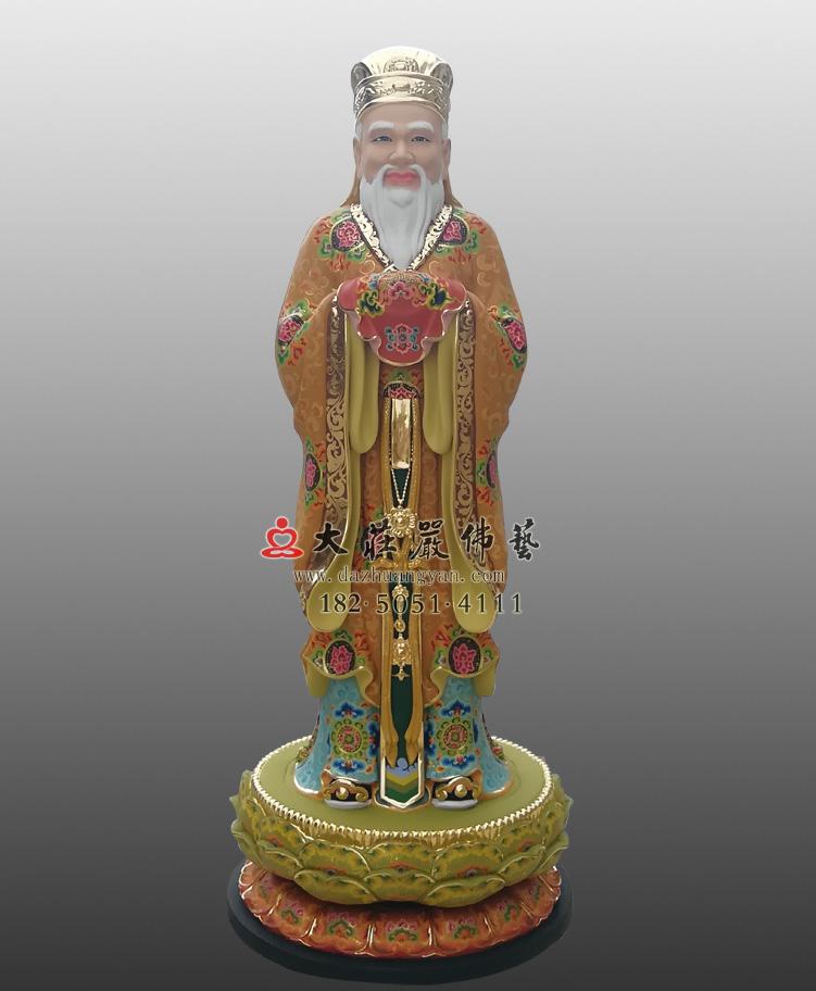 铜雕闵公彩绘塑像