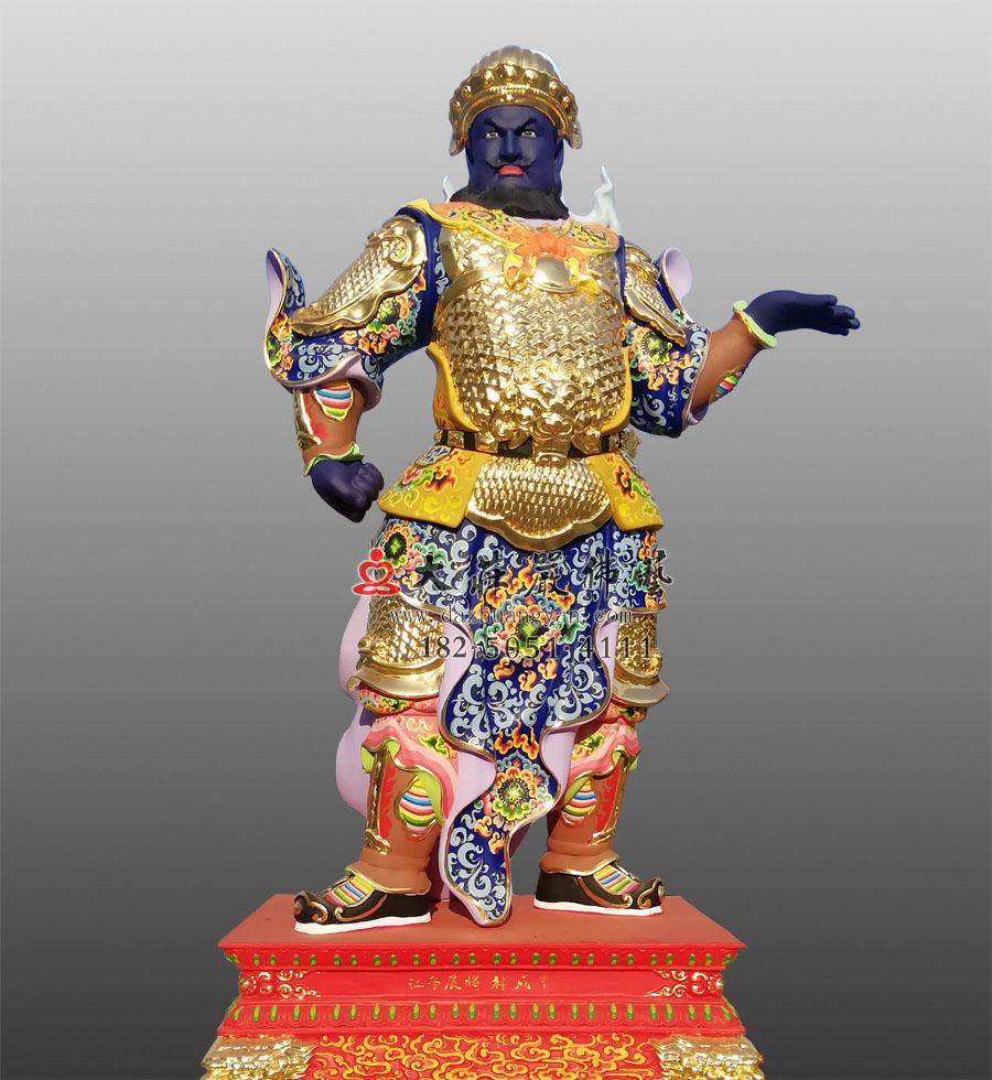 甲戌神将展子江彩绘神像