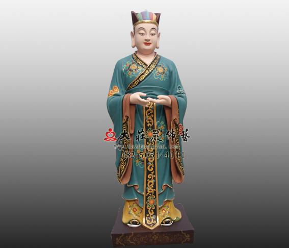 鲁班童子彩绘铜雕塑像