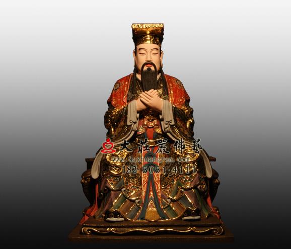 玉皇大帝彩绘铜雕神像